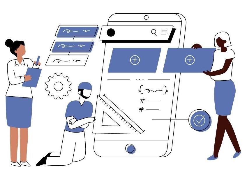 Sviluppatori che costruiscono una mobile app